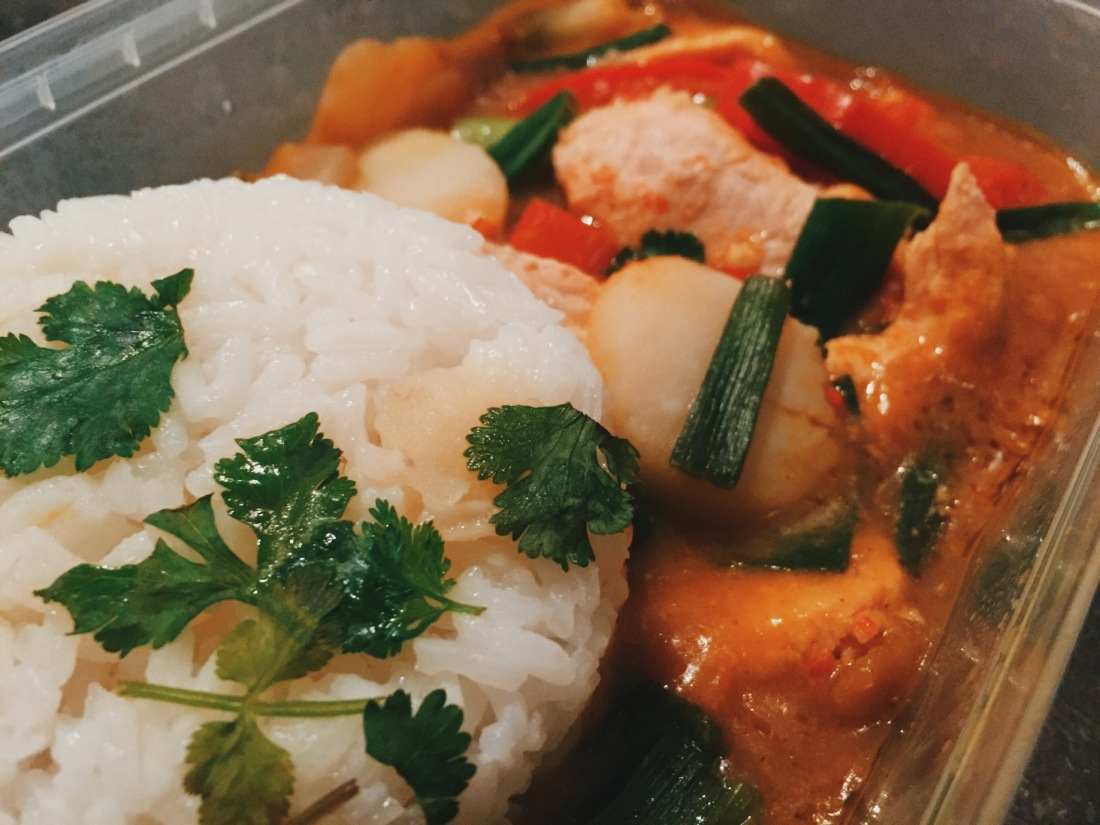 Microwave Chicken Katsu Curry