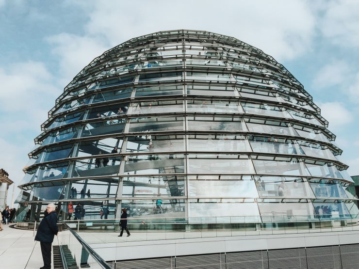 Sir Norman Foster's Reichstag glass dome in Berlin