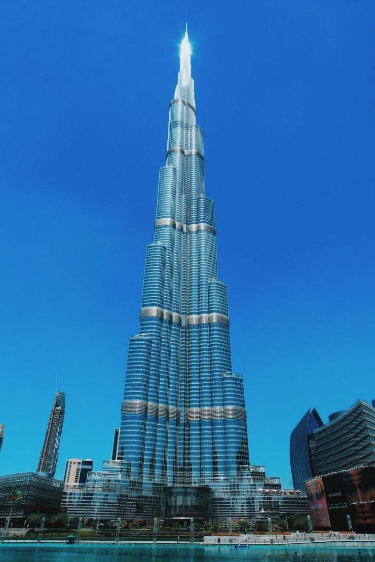 The Burj Khalifa in Dubai