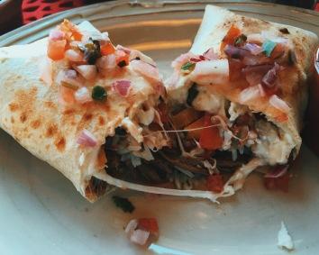 Beef Burrito at Revolución de Cuba Milton Keynes