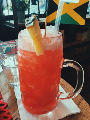Reggae Rum Punch cocktail, Milton Keynes