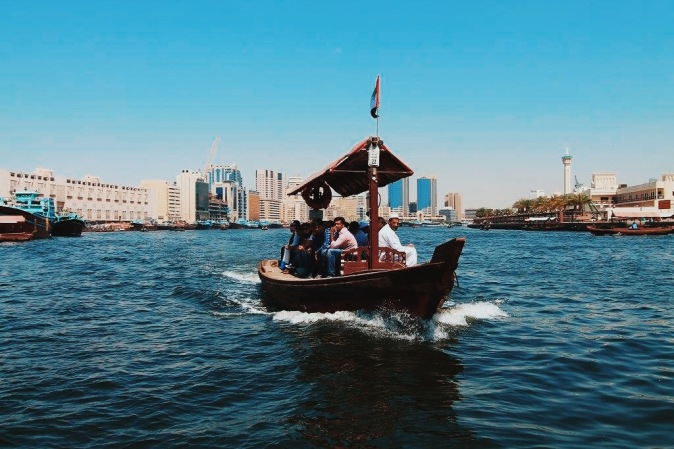 Dubai water taxi across the creek