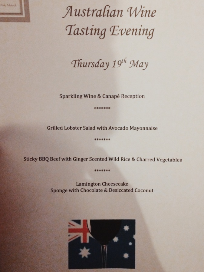 Wine Tasting Evening Menu