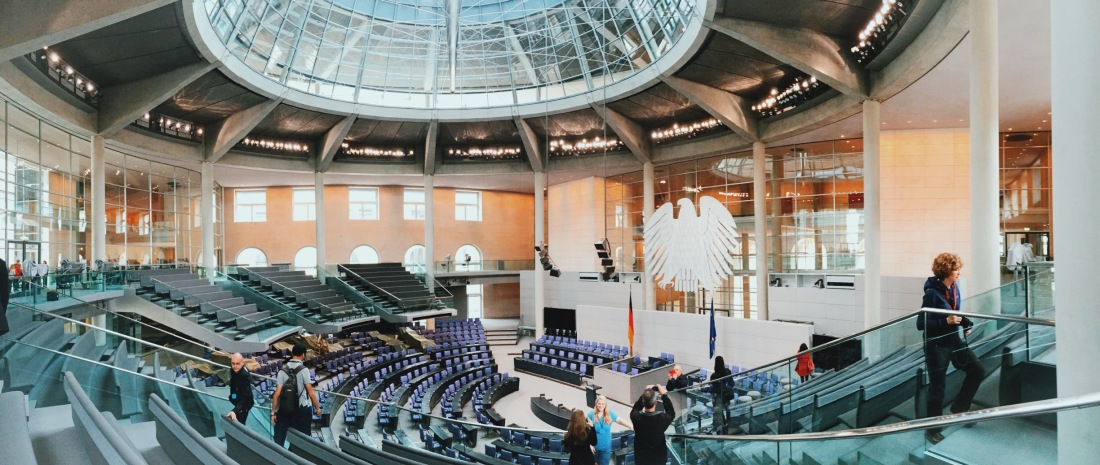 Inside the Reichstag chamber in Berlin
