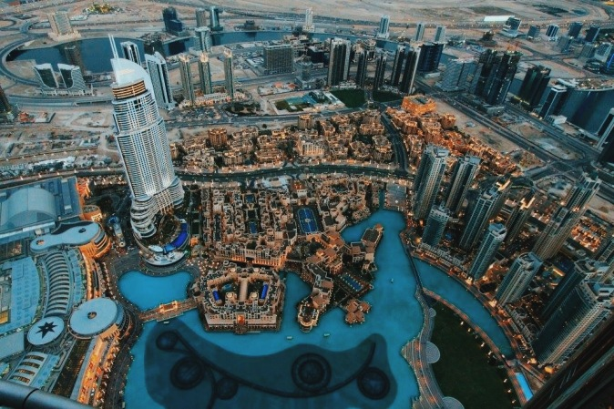 The view from the top of the Burj Khalifa