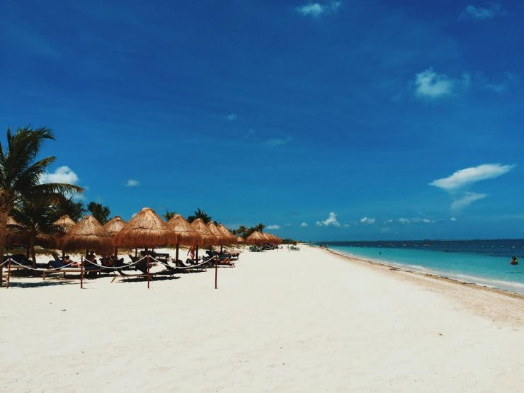 The beach at Excellence Playa Mujeres
