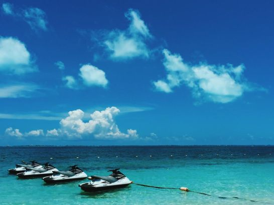 Jet skis at Excellence Playa Mujeres