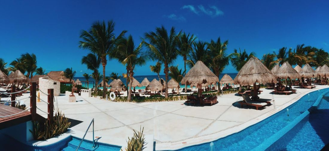 Pool area at Excellence Playa Mujeres