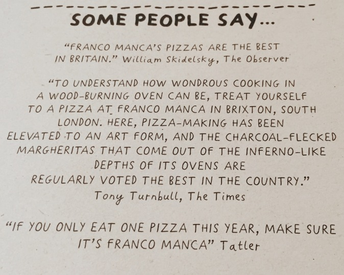 Franco Manca pizza review