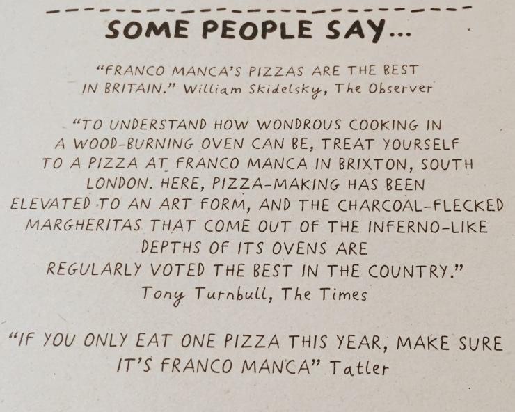 Franco Manca pizza review