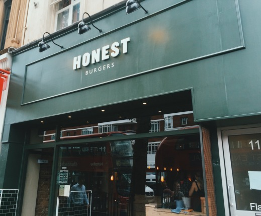 Honest Burger's new restaurant on Tottenham Court Road, London