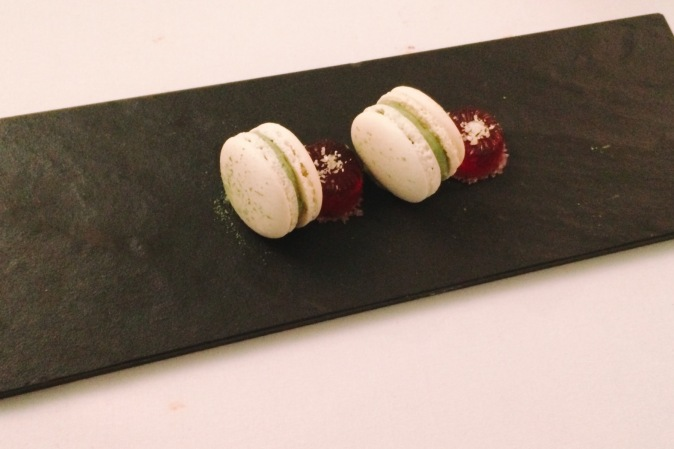 Final course at Paris House, Macaroons