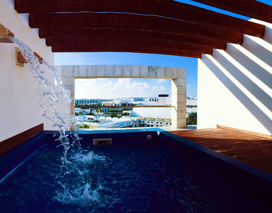 Private plunge pool at Excellence Playa Mujeres
