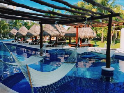 Hammocks at Excellence Playa Mujeres