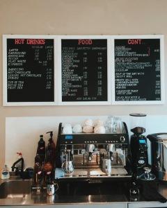Heavenly Blends' menu