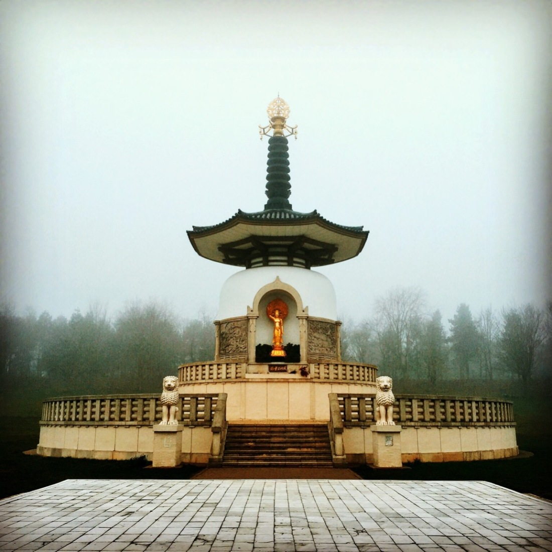 Milton Keynes: Peace Pagoda at Willen Lake