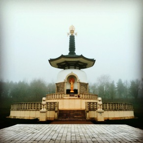 Milton Keynes blogger Peace Pagoda at Willen Lake