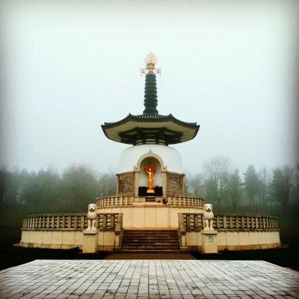 Milton Keynes blogger Peace Pagoda at Willen Lake