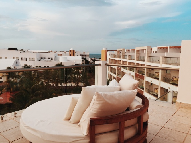 Rooftop luxury lounger at Excellence Playa Mujeres