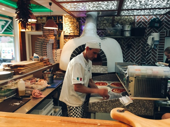 Authentic wood fired oven at Muratis, Wolverton