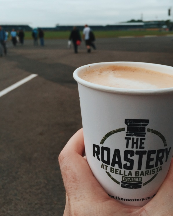Breakfast coffee at Silverstone F1 British Grand Prix