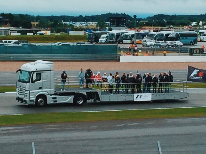 F1 driver parade at Silverstone