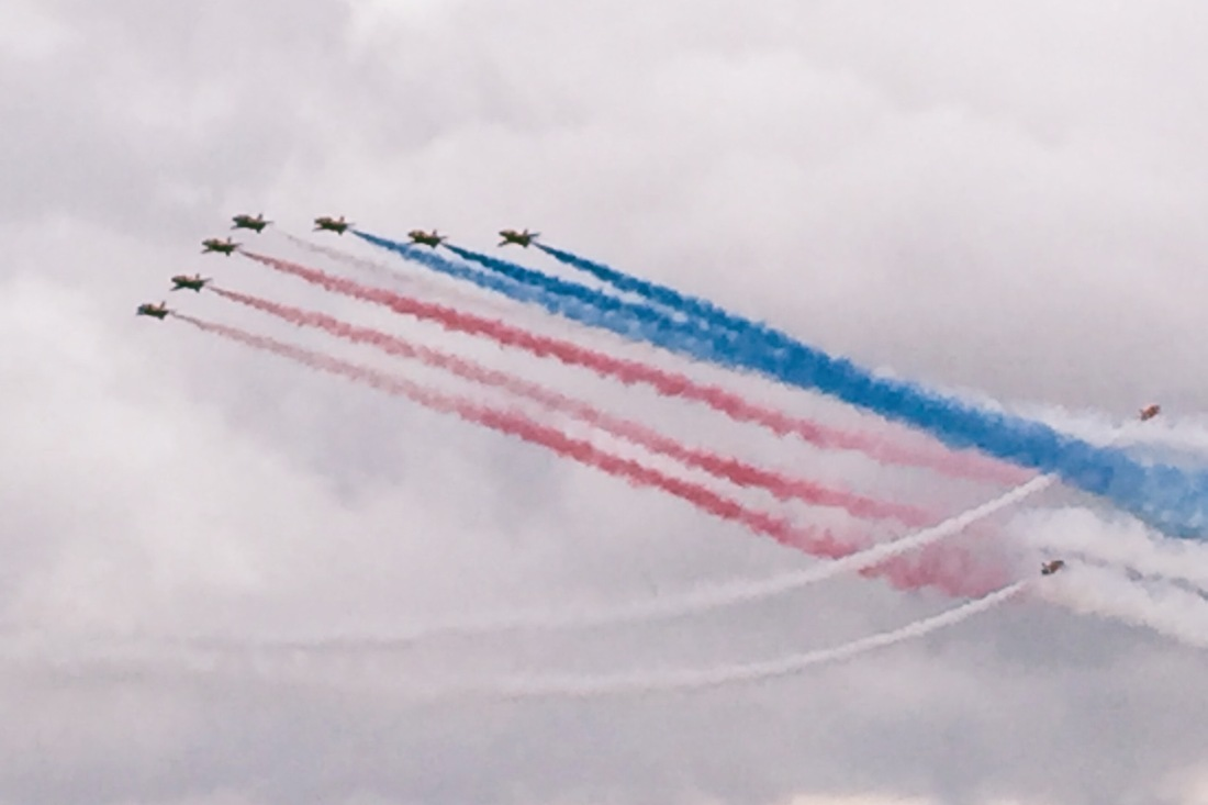 The Red Arrows at Silverstone 2016