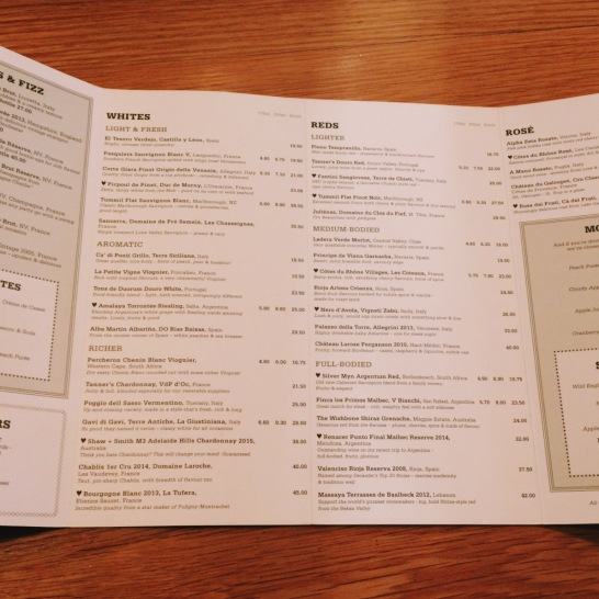 The Swan at Salford drinks menu
