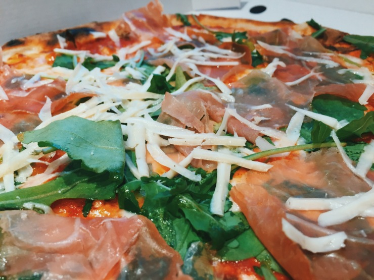 Pizza Parma at Murati's Pizzeria, Wolverton car wash