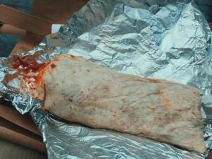 Unwrapping my burrito
