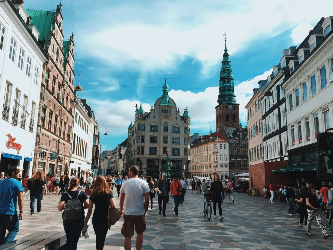 Copenhagen's main shopping street