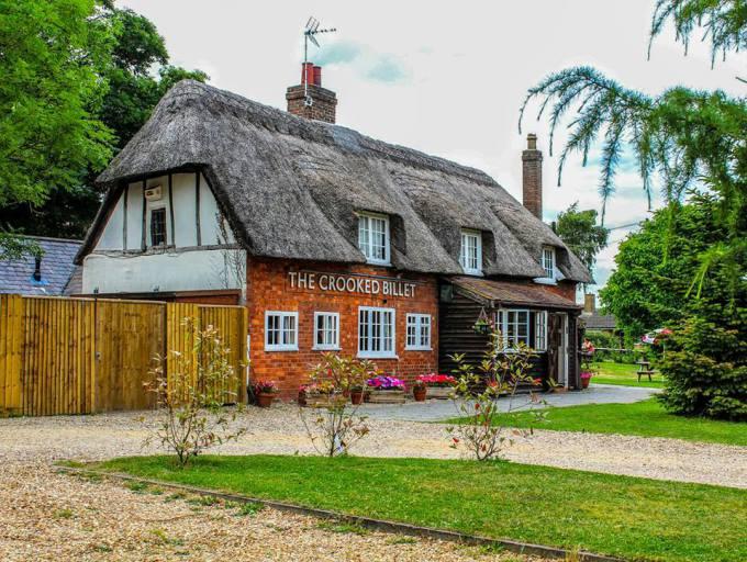 Crooked Billet pub garden