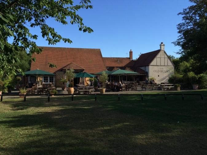 Old Beams pub garden