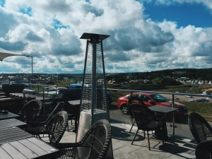 Outdoor terrace at The Beach at Bude in Cornwall