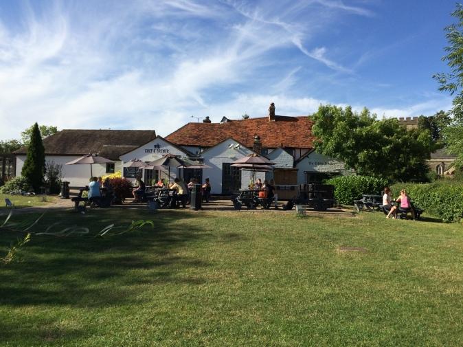 Milton Keynes pub garden
