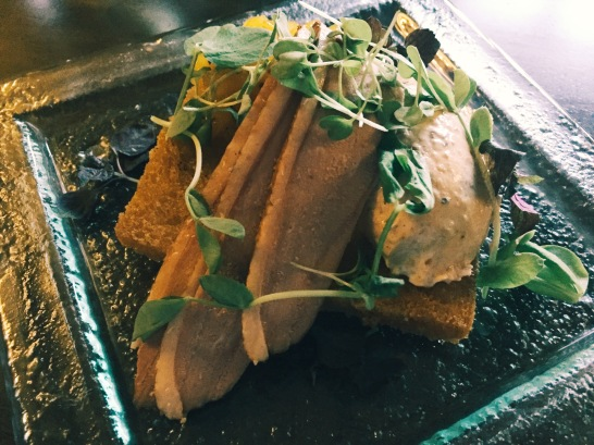 Home-smoked duck brest with liver parfait