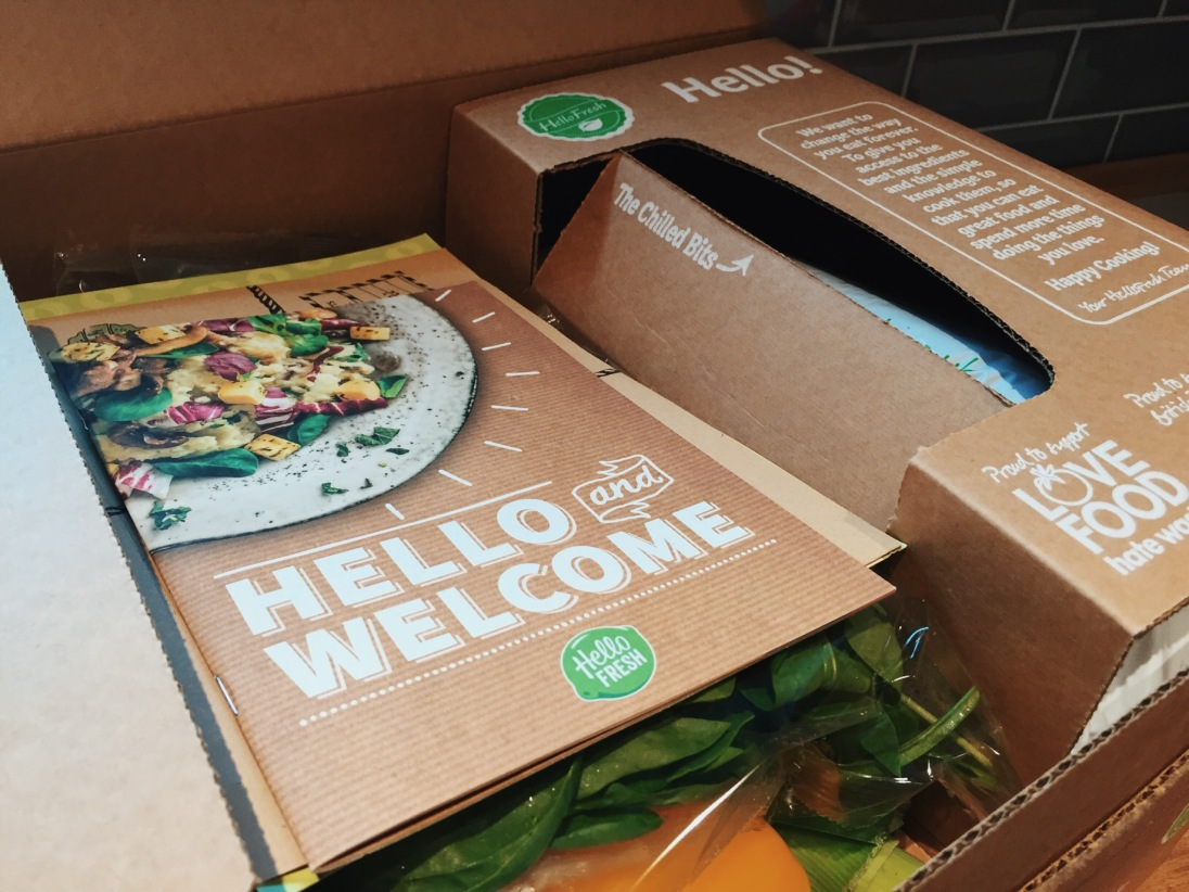 Unboxing a HelloFresh delivery