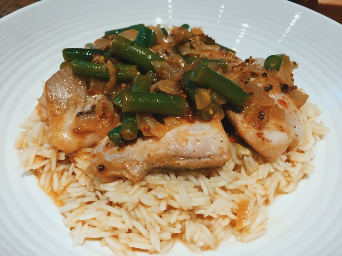 HelloFresh review Mimi's Coastal Fish Curry with Green Beans