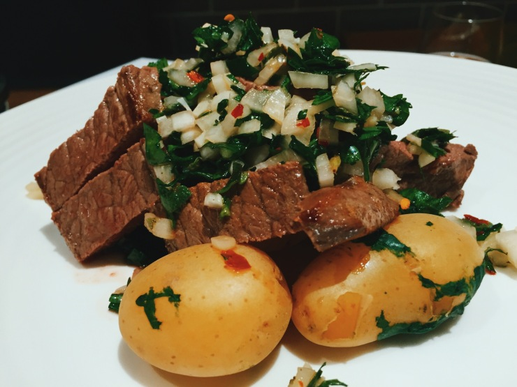 HelloFresh review Seared Steak Salad with Chimichurri Dressing