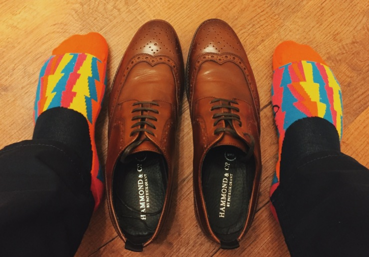 Patrick Grant Brogues with Quiet Rebellion socks