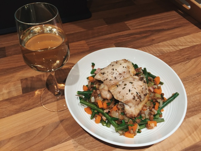 HelloFresh Roasted Chicken with Pancetta and Herbed Lentils review