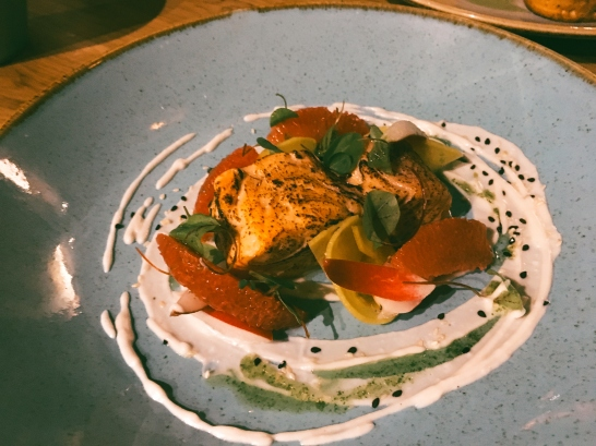 Salmon starter at The Anchor