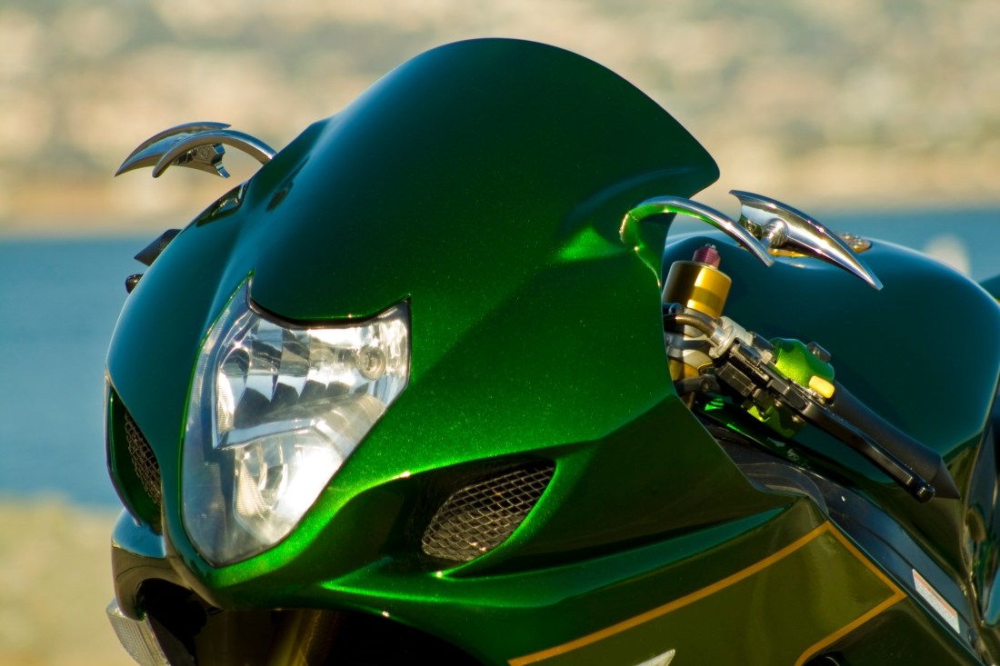 bikebandit-green-motorbike-headlight