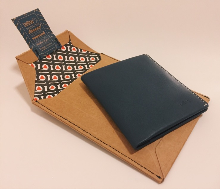 Bellroy Slim Leather Wallet and Note Sleeve in Blue Steel - review