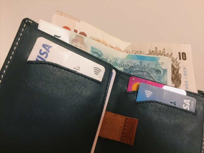 Bellroy Leather Wallet review - holding 8 cards and cash comfortably