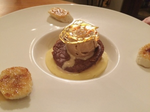 Olivier's at Woburn Hotel, banana souffle