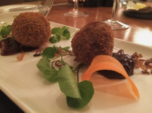 Olivier's at Woburn Hotel, oxtail bonbon