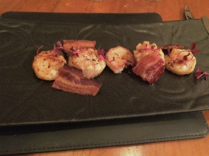 Olivier's at Woburn Hotel, prawn and scallops