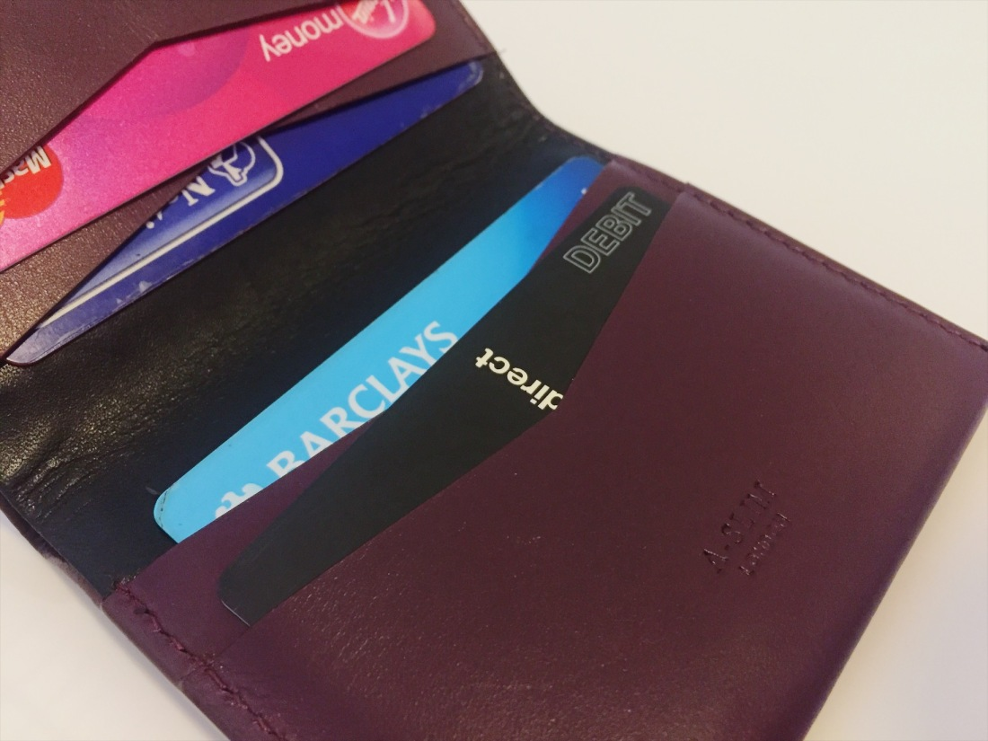 A-slim leather wallet review