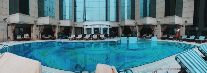 Fairmont Dubai review pool